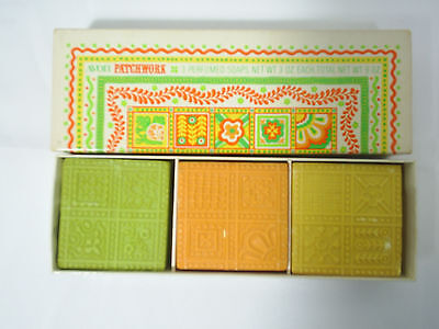 Avon Patchwork Perfumed Soaps In Box 3 oz. Each Vintage 1970s