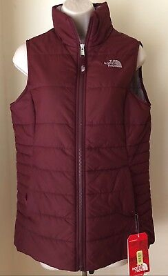386bf3d06 THE NORTH FACE Girls Harway Insulated Vest Zinfandel Red NWT Size XL (18)
