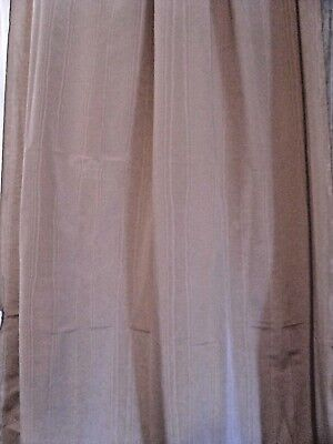 "Watered Moiré Taffeta Curtain Fabric Beige Champagne color 117"" (3.25yds)L 54"" W"