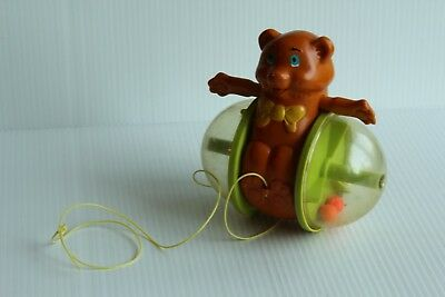 Fisher Price 1978 Bear Pull Toy # 642