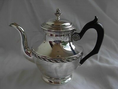 ANTIQUE FRENCH STERLING SILVER TEA POT,LOUIS XVI STYLE,EARLY 20th CENTURY