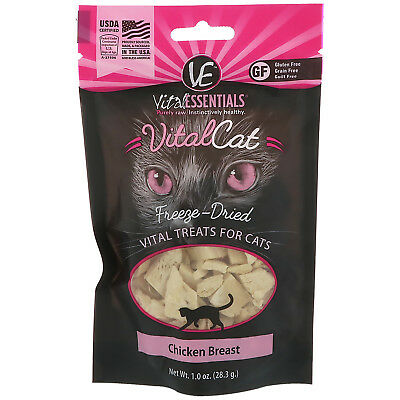 Vital Cat, Freeze-Dried Treats For Cats, Chicken Breast, 1.0 oz (28.3 g)