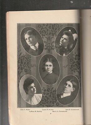 1905 Galion Ohio High School Yearbook? Reliquary Issue Sr Photos Names Genealogy