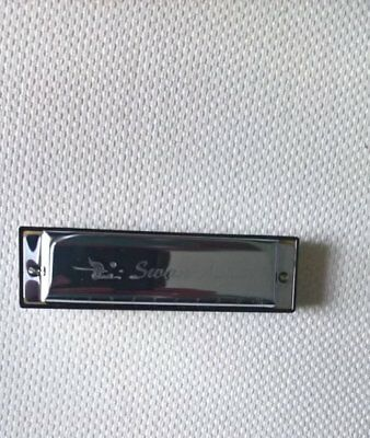 Swan Harmonica New In Case