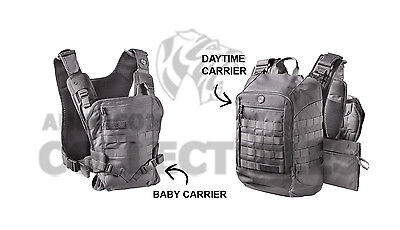 5c1abf12c2e Mission Critical Tactical FRONT BABY CARRIER   DAYPACK CARRIER Bundle GRAY  Grey