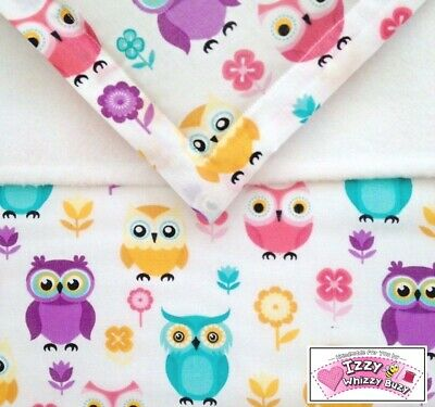 Dolls Pram Blanket & Pillow Cot Bedding Set Pink Woodland Owls Baby Annabell 🎁