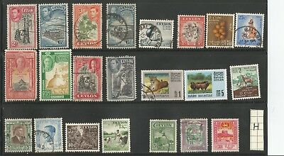 Ceylon Stamps  very fine  used stamps mixture   22 lot