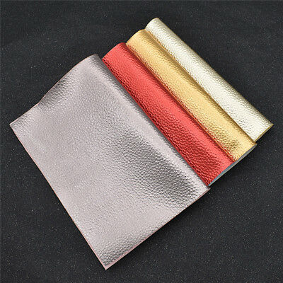 21x29cm Metallic Synthetic Leather Fabric DIY Handbags Shoes Making Material 1pc