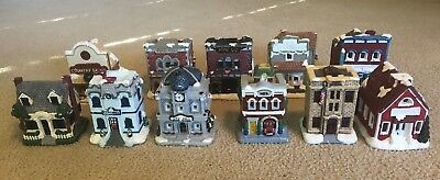 California Creations Lot of (11) Buildings-Hand-Painted, Ready to Display!