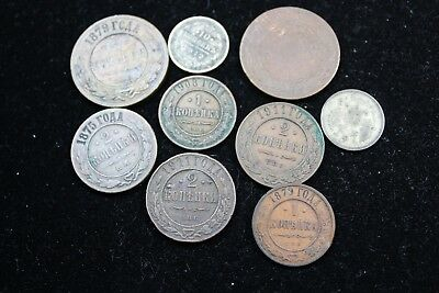 Russia  9 assorted coins   lot J 252