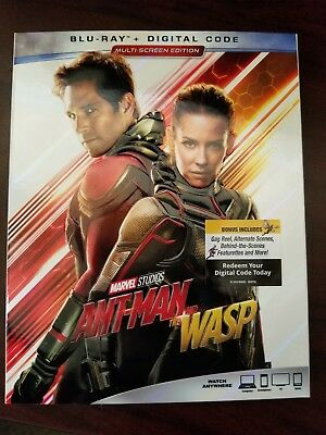 ANT-MAN AND THE WASP  blu ray (DIGITAL IS NOT INCLUDED)