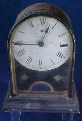 Vintage Metal Waterbury Clock Co. Small Mantle Clock As Found Condition