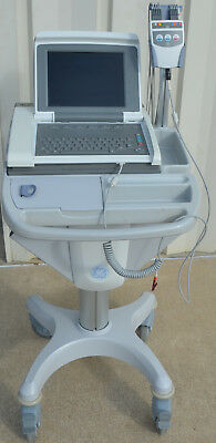 GE MAC 5500 HD EKG ECG Color with leads & Rolling Cart Options