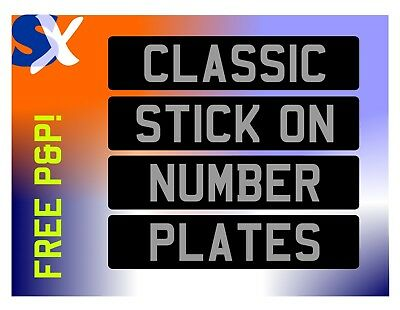 Classic Stick On Number Plate +++++Free P&p++++++ 24 Hour Dispatch Time