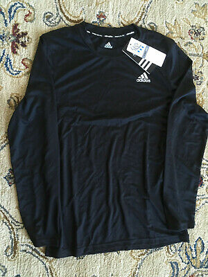 NWT Boys adidas ClimaLite Long Sleeve Athletic Tee Youth T-Shirt -  M, L, XLG