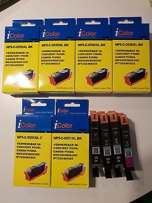 10 Canon Canon Pixma IP7250 MG5450 MG6350 MX725 MX925 MG55 5 Brother Patronen