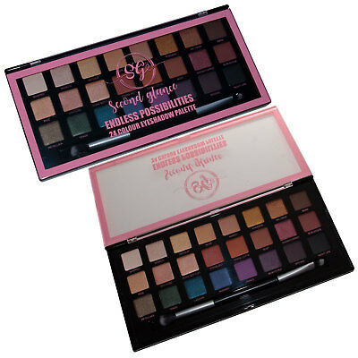Make Up Set Gift Second Glance 24 Colour Eyeshadow Eyes Beauty Palette inc Brush