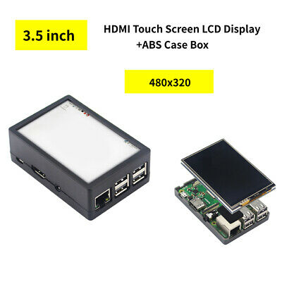 3.5 inch HDMI Touch Screen LCD Display +ABS Case Box for Raspberry Pi 3B+/3B/2B
