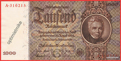 R177 Serie A 1000 Reichsmark Germany UNC Pick 184