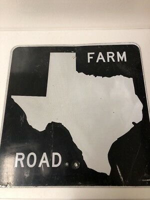 Blank Retired Texas Farm Road Sign 24 X 24 Authentic