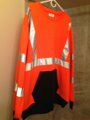 High Visible Safety Sweatshirt ANSI class 3 - Orange