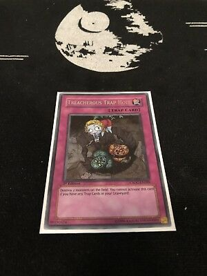 1x Treacherous Trap Hole - Secret Rare CSOC-EN089 1st Edition Light Play