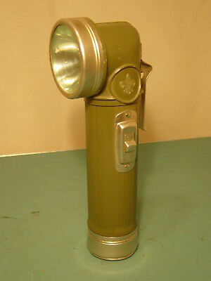 Vintage 1950's BOY SCOUTS OF AMERICA OFFICIAL Angle Head FLASHLIGHT Camping