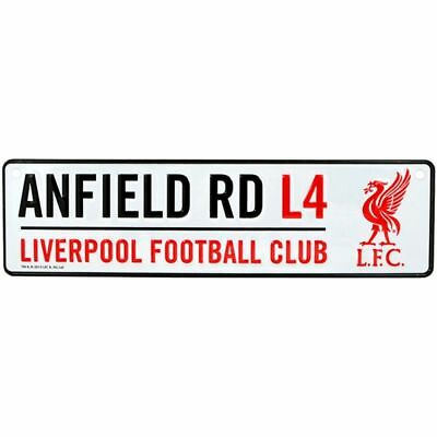 Liverpool FC Hanging Metal Novelty Number Plate Sign ANFIELD RD L4