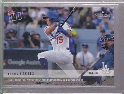 2018 Topps NOW MLB 901 Austin Barnes Game-Tying, RBI Single in 5th