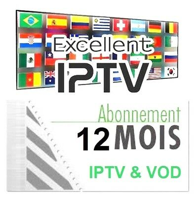 Abonnement IPTV 1 ans plus de 6000 Ch & VOD: US,UK,SE, Europe, france, Arabic.