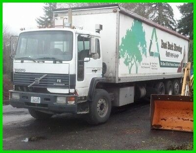 1995 Volvo FE64 Bark Dust Blowing Commercial Conventional Daycab Semi Truck