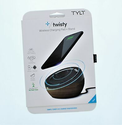 Tylt Twisty Wireless Charging Pad + Stand Up To 10 W Fast Charging iPhone + And