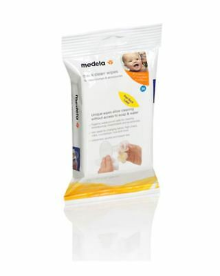 Medela Quick Clean Wipes for Breastpumps & Accessories (Pack of 24), # 87055