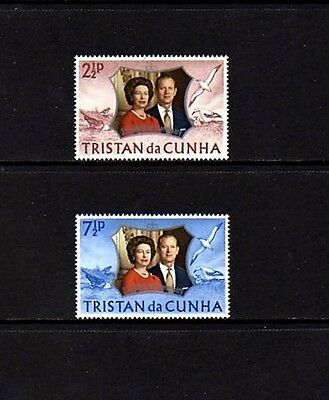 Tristan Da Cunha - 1972 - Qe Ii - Silver Wedding Issue - Mint - Mnh Set!
