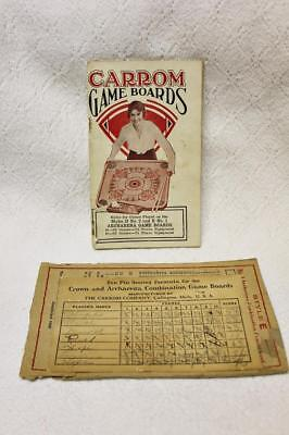 Carrom Game Boards Rules for Styles D No. 2 & E No. 1 Archarena Game Board