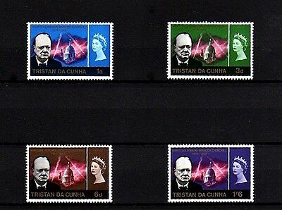 Tristan Da Cunha  - 1966 - Qe Ii -  Churchill Memorial - 4 X Mint - Mnh Set!