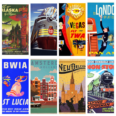 TRAVEL POSTERS A4 A5 Wall Decor Cafe Bar Shop Kitchen Bathroom Poster Prints