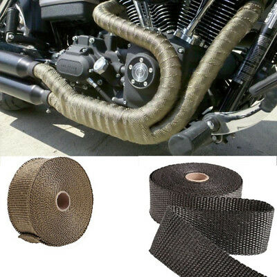 Black Manifolds Exhaust Pipe Tape Heat Insulation Fiber Fiberglass Thermal Wrap