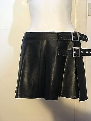 Punk Rave Gothic Goth Rock Fetish PVC Look Mini Skirt size M