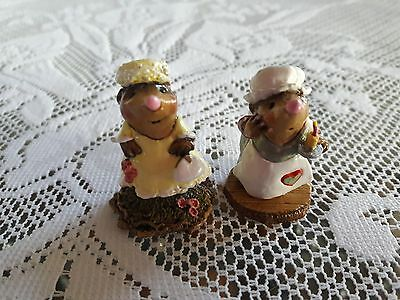 Wee Forest Folk MO-5 + MO-6 Jackie O. Mole + Candlelight Search  MINT with Box