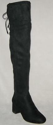 11a7c82b4d5 Michael Kors JAMIE Over The Knee Stretch Suede Boots Women Black MSRP  225  NEW