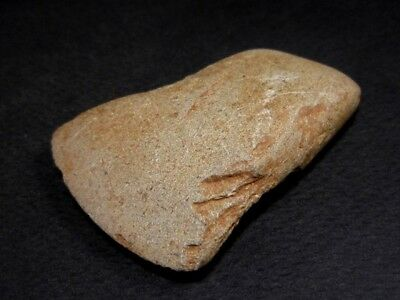 RARE NEOLITHIC GREY-Brown STONE COMPACT SCRAPER FROM THE BALKANS+++AS FOUND+++