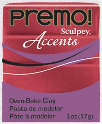 Paste Sculpey Accent red glitter (red glittery) - Sculpey