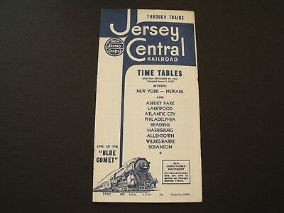VTG 1940 Jersey Central Railroad Time Tables