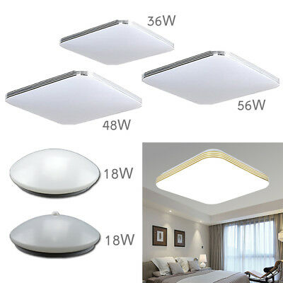 18/36/48/56W LED Ceiling Light Living Room Kichen Round Square Acrylic Fashion