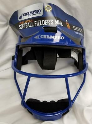 CHAMPRO Sports The Grill ~ Softball Fielder's Mask ~ Adult Royal Blue ~ New TAG