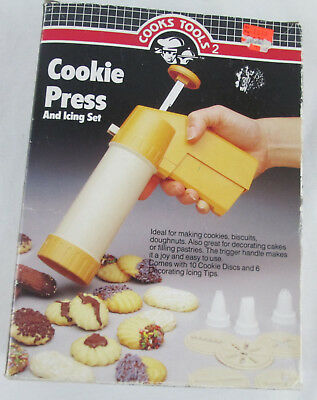 Vintage Cookie Press New in Box 1987 Icing Cookies Doughnuts Cake Decorating