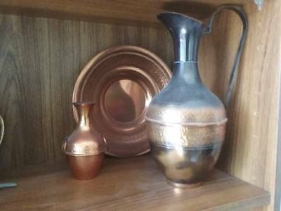 Metro Ware Copper jug + others