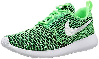 Nike Womens ROSHE ONE FLYKNIT Running shoes size 7.5 NEW VOLTAGE GREEN