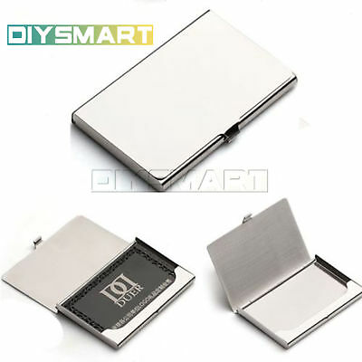 Business Name Credit ID Card Holder Box Metal Stainless Steel Pocket Box AU